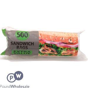 TIDYZ EXTRA VALUE SANDWICH BAGS 500 PACK