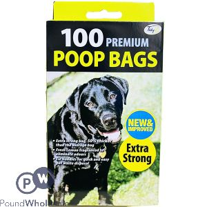 100 DOGGY BAGS EXTRA STRONG