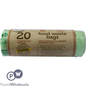 TIDYZ 20 BIODEGRADABLE FOOD WASTE BAGS 5L