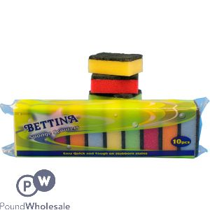BETTINA SPONGE SCOURERS 10PC