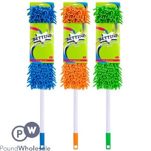 BETTINA CHENILLE MOP WITH HANDLE 2 ASSORTED COLOURS