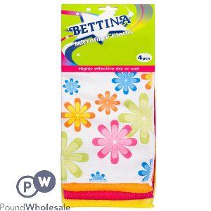 BETTINA FLORAL MICROFIBRE CLOTH 4PC
