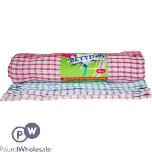 TEA TOWELS ASSORTED COLOURS 3PC