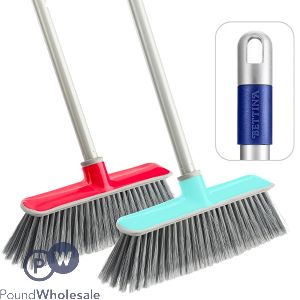 BI-INJECTION PUSH BROOM WITH HANDLE ASSORTED