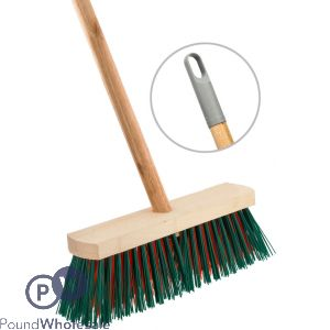 "WOODEN OUTDOOR 11"" BROOM WITH STICK"