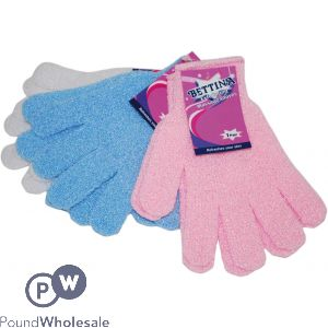 EXFOLIATING MASSAGE GLOVE MIXED COLOURS