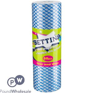 BETTINA ALL PURPOSE CLOTH ON A ROLL 50PC