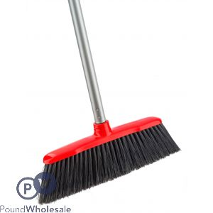 SPAZIO BROOM SET WITH SILVER HANDLE