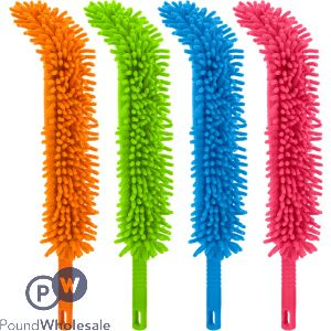 CHENILLE FLEXIBLE DUSTERS 2 CLEANING FACES 4 ASSORTED COLOURS