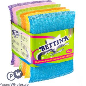BETTINA SPARKLY DELICATE SPONGES ASSORTED 6PC