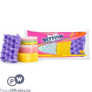 BETTINA MULTIPACK BATH/SHOWER SPONGES