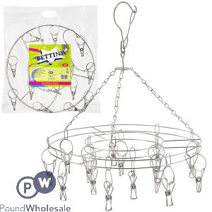 BETTINA STAINLESS STEEL LAUNDRY AIRER 15 PEGS