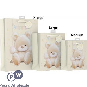 BABY BEAR DESIGN GIFT BAG LARGE