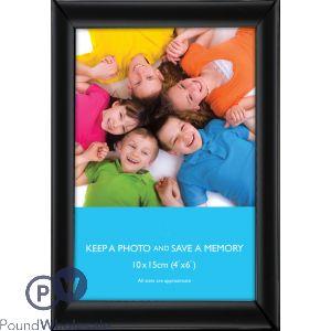 "PHOTO FRAME FLAT BLACK 4""X6"" (10X15CM)"