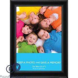 "FLAT BLACK PHOTO FRAME 5"" X 7"" (13CM X 18CM)"