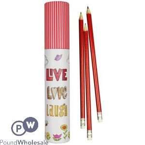 WOAF HB RUBBER PENCILS TUBE 12 PACK