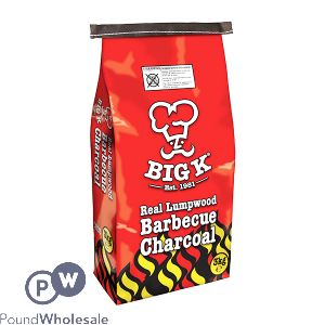 BIG K REAL LUMPWOOD BARBECUE CHARCOAL 3KG