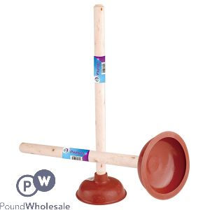 RUBBER PLUNGER WITH WOODEN HANDLE