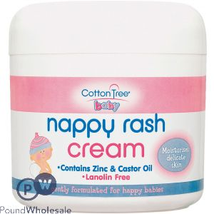 COTTON TREE NAPPY RASH ZINC & CASTOR OIL CREAM 300ML