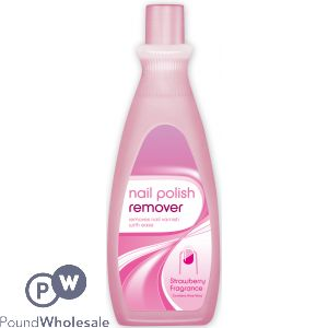 NAIL POLISH REMOVER STRAWBERRY FRAGRANCE 295ML