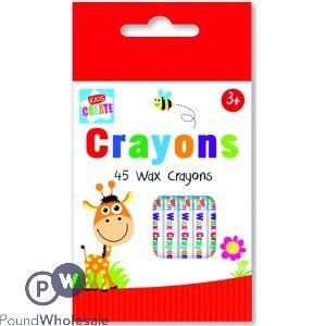 KIDS CREATE 45 WAX CRAYONS