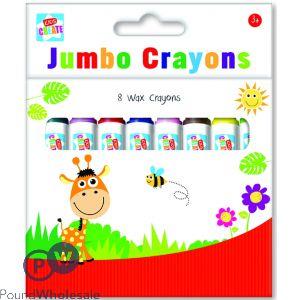 KIDS CREATE 8 JUMBO WAX CRAYONS