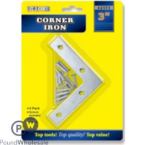 "TOP TOOLS 3"" CORNER IRON 4 PACK"