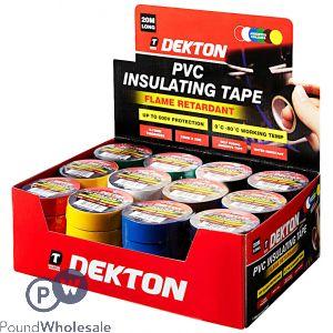 DEKTON 60PC/CDU ASSORTED PVC INSULATION TAPE