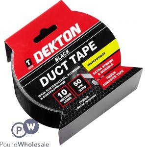 DEKTON BLACK DUCT TAPE 50MM X 10M