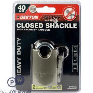 DEKTON 40MM CLOSED SHACKLE HIGH SECURITY PADLOCK