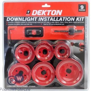 DEKTON DOWNLIGHT INSTALLATION KIT 9PC