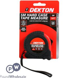 DEKTON 5M HARD CASE TAPE MEASURE