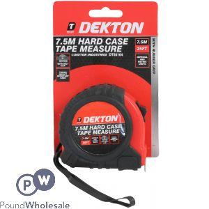 DEKTON 7.5M HARD CASE TAPE MEASURE