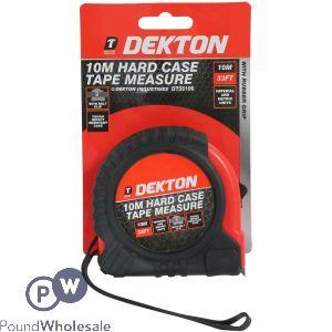 DEKTON 10M HARD CASE TAPE MEASURE