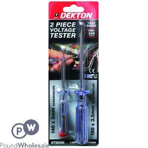 DEKTON 2 PIECE VOLTAGE TESTER 100-250V