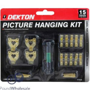 DEKTON 15PC PICTURE HANGING SET