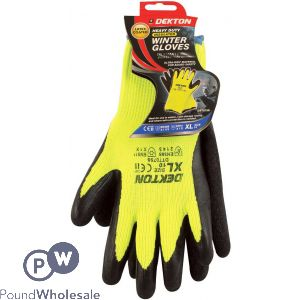 DEKTON INSULATED GLOVES CE CAT 2 EN388, EN511 BLACK/ HI VIS GREEN LATEX 10/XL