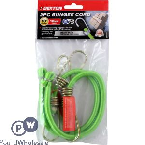 "DEKTON 2PC 18"" x 10MM HEAVY DUTY BUNGEE CORD"