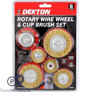 DEKTON 6PC ROTARY WHEEL AND CUP BRUSH SET