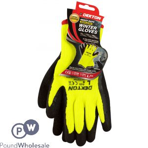 DEKTON INSULATED GLOVES CE CAT 2 EN388, EN511 BLACK/ HI VIS GREEN LATEX 9/L