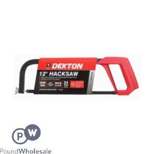 "DEKTON 12"" HACKSAW (24 TPI HCS BLADE)"