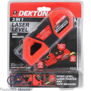 DEKTON 3 IN 1 LASER LEVEL WITH MEASURE