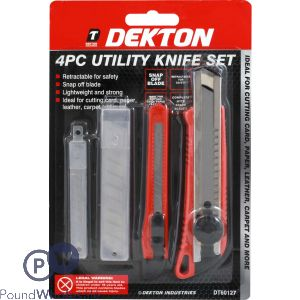 DEKTON 2PC KNIFE + 6PC BLADES