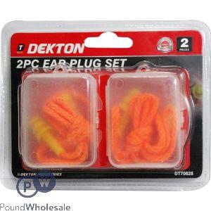 DEKTON 2 PIECE EAR PLUG SET