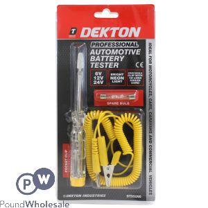 DEKTON PROFESSIONAL AUTOMOTIVE BATTERY TESTER