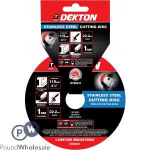 DEKTON 115MM STAINLESS STEEL CUTTING DISC ULTRA THIN