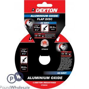 DEKTON 115MM ALUMINIUM OXIDE FLAP DISC 40 GRIT