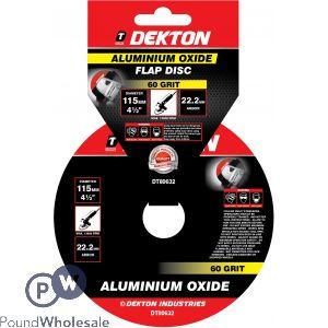 DEKTON 115MM ALUMINIUM OXIDE FLAP DISC 60 GRIT