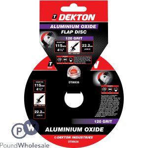 DEKTON 115MM ALUMINIUM OXIDE FLAP DISC 120 GRIT
