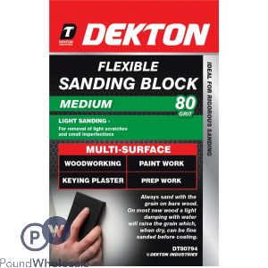 DEKTON FLEXIBLE SANDING BLOCK 80 GRIT